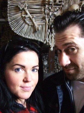 Ossuary / The Cemetery Church: Me and my man at Kostnice v Sedlci