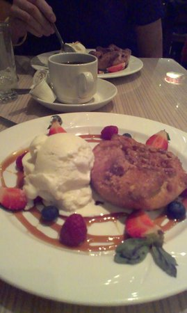 Spynn Restaurant:                                     Apple Blossom with Caramel and Fruit Garnish and Real Vanill