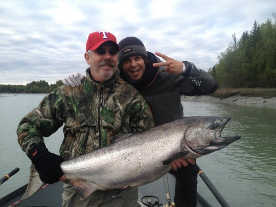 Chugach Backcountry Fishing - Day Trips: King Salmon fishing with Corey is fun!