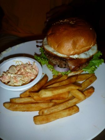 A-One Restaurant : Burger and fries