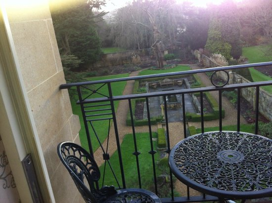 The Bath Priory:                   little balcony overlooking rear garden