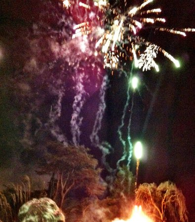 The Bath Priory Hotel:                   Fab Fireworks NYE midnight