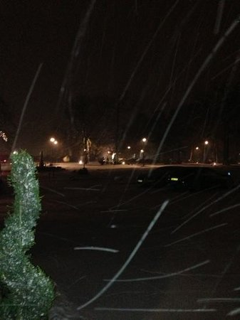 Rockliffe Hall:                   a wintery scence at the front of the hotel - very romantic!