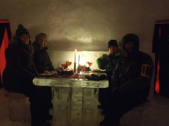 Ice Hotel Romania:                   Cheers !