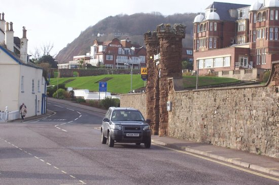 Sidmouth Harbour Hotel - The Westcliff:                   Westcliff Hotel from the Esplanade.