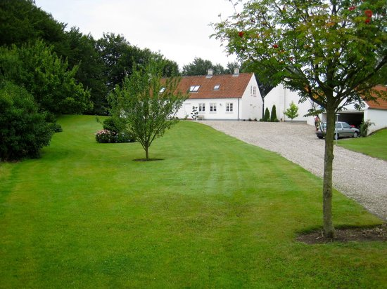 Blommenslyst Bed & Breakfast: the lawn towards the property