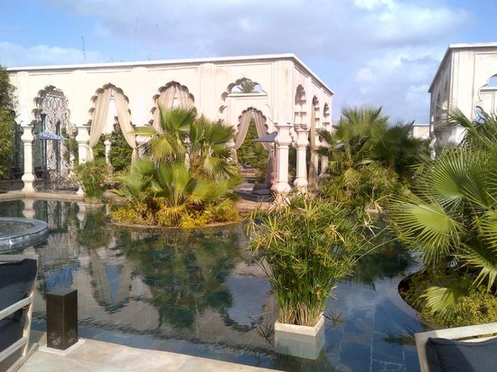 Palais Namaskar:                   View from the bedroom