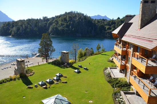 Llao Llao Hotel and Resort Golf Spa:                                     view from room: chalet and lake