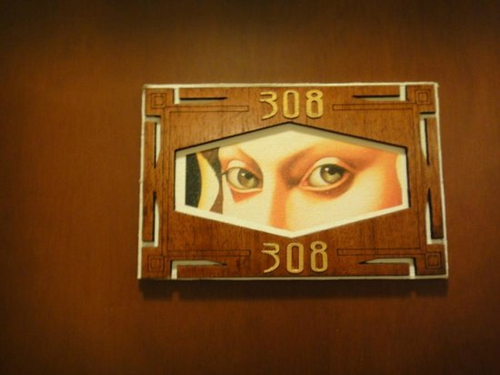 Hotel Casa Deco:                   Cool Door Art!