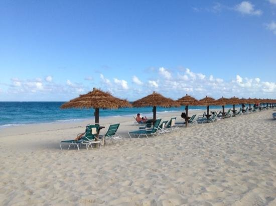 The Sands at Grace Bay:                   not sure if you can appreciate: gorgeous beach, but see all the claimed but un