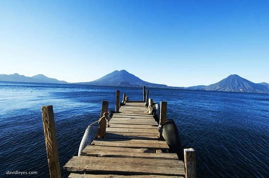 Porta Hotel Del Lago:                   dock on Lake Atitlán