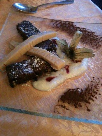 Restaurant La Renardiere : Brownies purée de banane