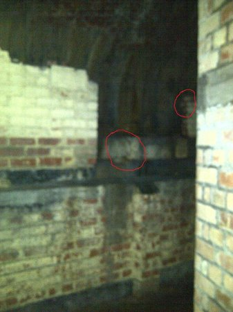 Manchester Ghost Walk:                   A couple of faces showed up on this pic!