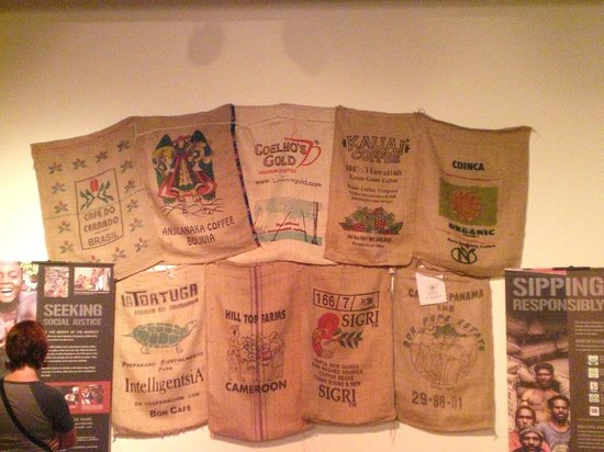 Tampa Bay History Center: Another coffe bag display
