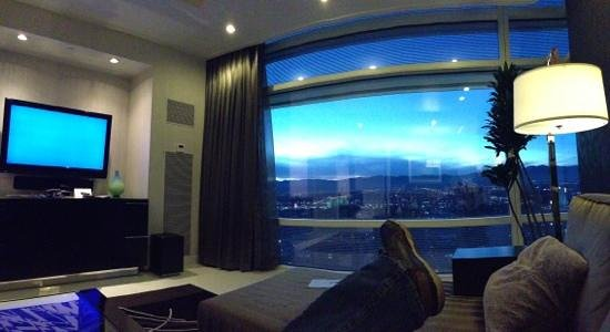 ARIA Sky Suites:                   not a bad view from the lounge!!