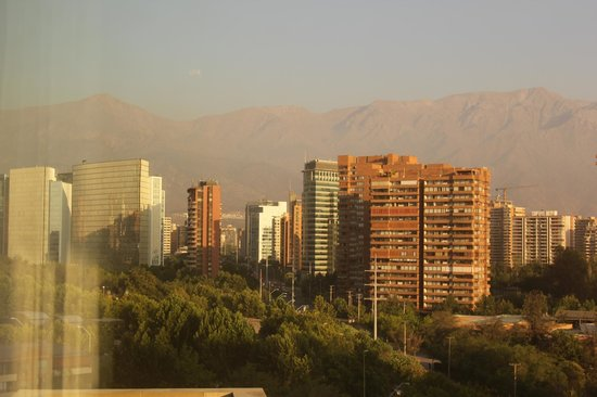Hotel Santiago:                   views towards some of the Andes