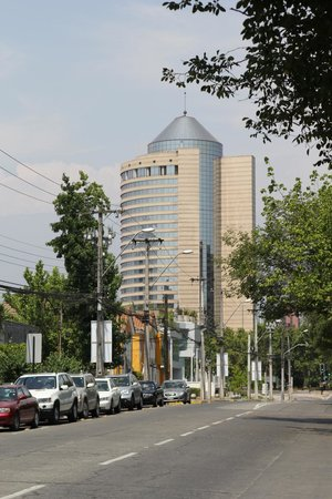 Grand Hyatt Santiago:                   view from the street