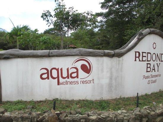 Aqua Wellness Resort:                   Entrance sign