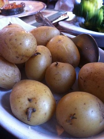 The Old Pandy Inn:                                     The potatoes are so old they're sprouting!