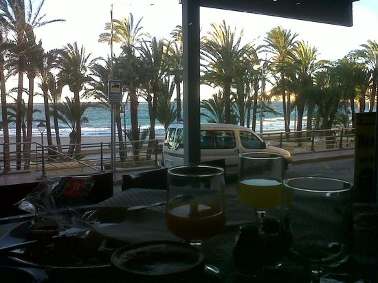 Esmeralda Beach Hotel: view from hotel restaurant