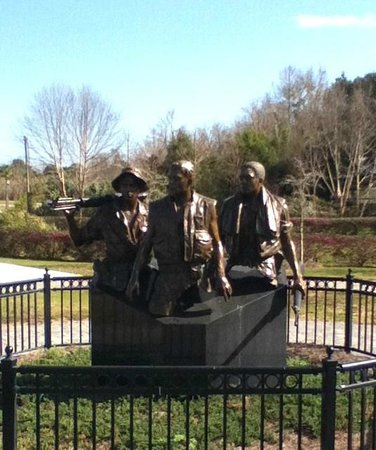 Orman House Historic State Park:                   Three Soldier Vietnam Memorial