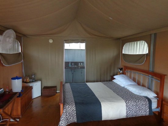 Jabiru Safari Lodge:                   View of our tent