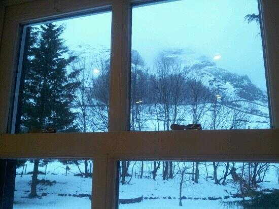 New Dungeon Ghyll Hotel:                                     beautiful view from our bedroom window (room4)