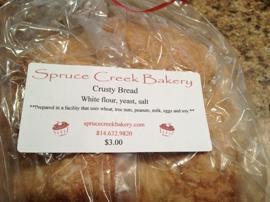Spruce Creek Bakery:                   fresh bread