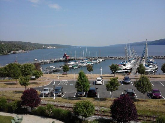 Watkins Glen Harbor Hotel:                                     View of Seneca Lake from en suite balcony
