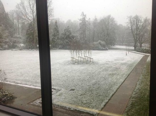 Rudding Park Hotel:                   Snowing