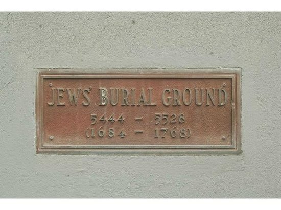 Jewish Cemetery:                   Plaque on the Jewish Burial Grounds - Charlestown, Nevis, WI