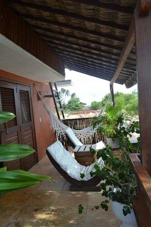 Casa na Praia:                   Nossa varanda!