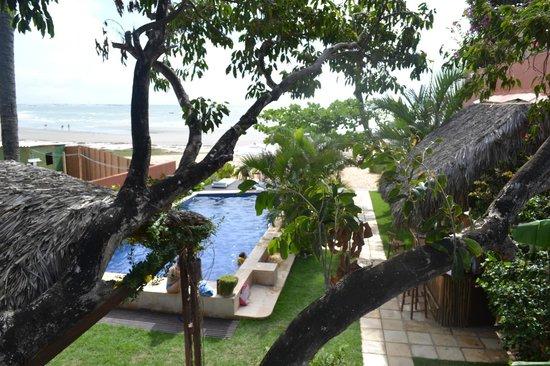 Casa na Praia:                   Vista da nossa suíte.