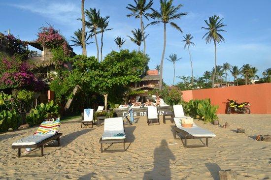 Casa na Praia:                   Pousada vista de frente.                 