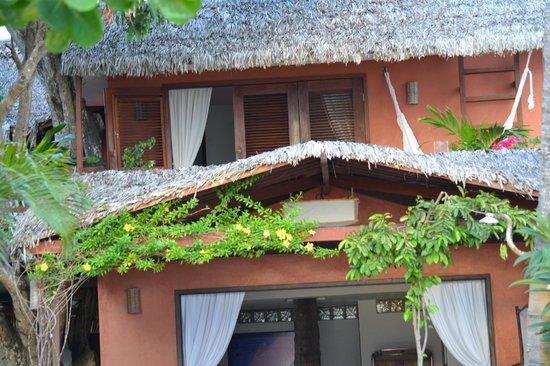 Casa na Praia:                   Nossa varanda vista de baixo.                 