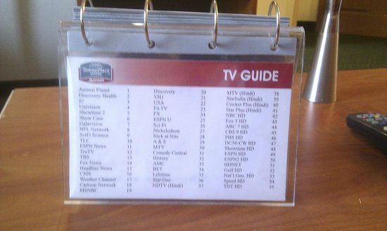 TownePlace Suites Gaithersburg : TV channel guide