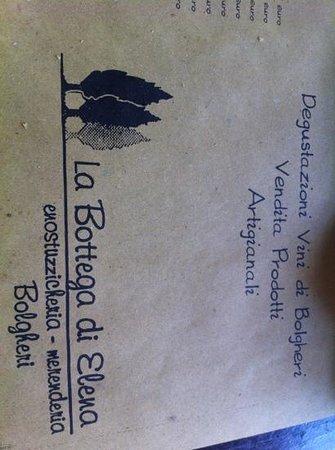 La Bottega di Elena: originali tovagliette con il menu