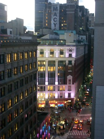 Hotel Metro:                   View of Macy's from the roof terrace