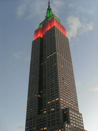 Hotel Metro:                   View of Empire State Building from roof terrace