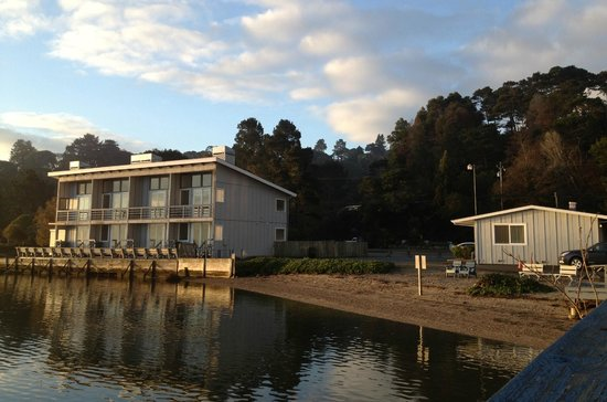 Tomales Bay Resort:                                     Left, Bayside Rooms, Right Driftwood Rooms Buidling