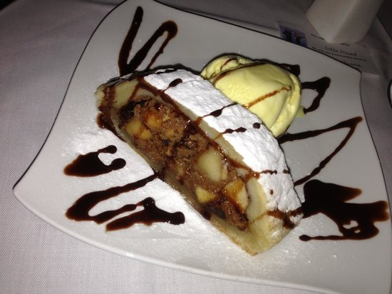Black Forest Restaurant: apfel strudel for dessert - served warm with nice vanilla ice cream!