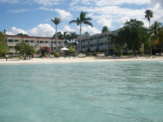 Azul Beach Resort Sensatori Jamaica by Karisma:                   View of our hotel from the water!