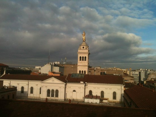 Hotel Rimini:                                     View of the tower of the Sagre Cuora di Gesu from the 6th fl