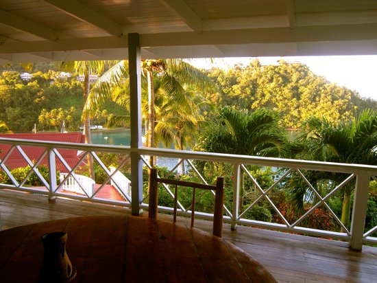 Oasis Marigot: View from my Ocean Cottage