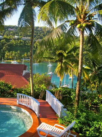 Oasis Marigot: View from Ocean Cottage