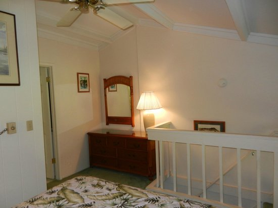 Polynesian Shores:                   Unit #203 - Upstairs loft has fan and dresser (nice!)
