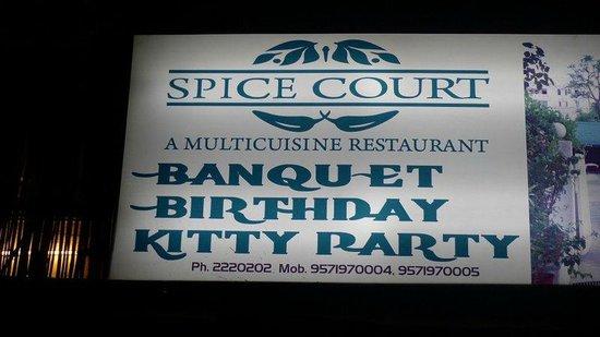 Spice Court Restaurant:                   Spice Court Restaurant - sign                 