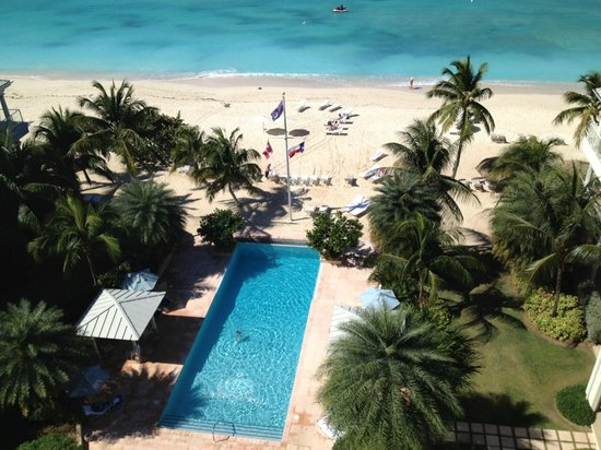 Caribbean Club: looking down from 7th floor tower suite