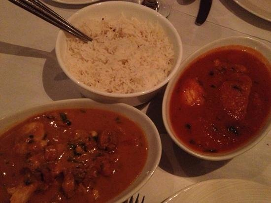 Nawab Indian Cuisine - Norfolk: two chicken dishes