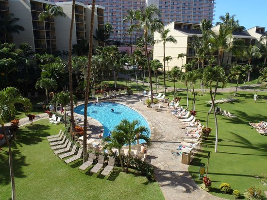 Aston Kaanapali Shores:                   Great pools and green space in the resort
